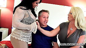 Bigtitted milf fucked in foursome