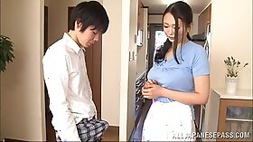 Best handjob by the naughty red haired Japanese wife
