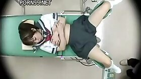 Japanese Teen Gets Her Mouth Licked by Doctor