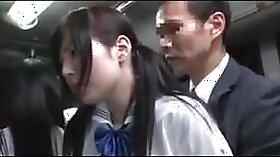 Auspicious Japanese beauty gets fucked in bus