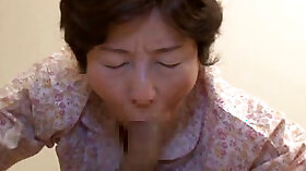 Asian granny gets blasted from behind by Mark