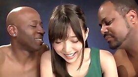 Blonde girl winks girfed by big black dick