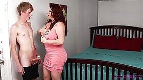 Busty stepmom Maggie Green deeply caresses customer