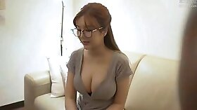 Curvy Chinese Maid Jenna Cheeks Suck On Stiff Cock
