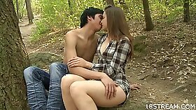 Horny outdoor pounding by couple