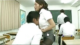 WWE Japan Gym teacher tries his hottest female students