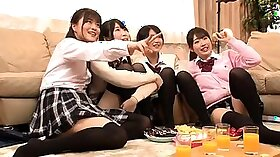 19 palsome schoolgirl share a cock