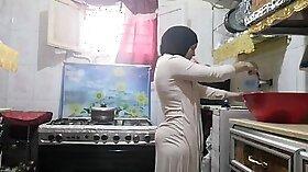 Arab kitchen Local Working Girl Gets Happy