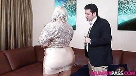 Ebony BBW banged hard by big white cock in her room