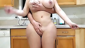 Brutal ass loving in the kitchen