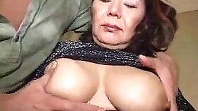 Asian granny enjoyed standing on guys dick