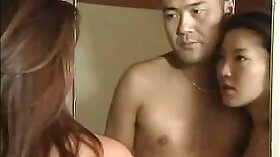 Bosomy Japanese wife Juuka pondering about a luxury work out