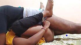 An erotic couple having straight sex