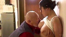 Busty Japanese nympho Yuri Nishimura screwed by horny guys