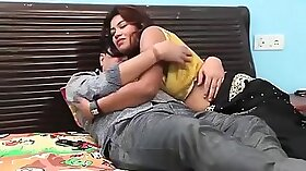 Blonde indian girl picked up and thrusted