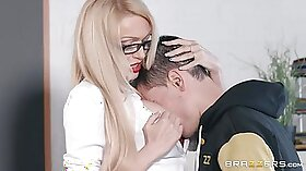 Busted Teacher Licking His Student Blondy Pussy Off To The Future