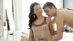 Desi milf fucked by young client
