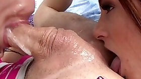 Anal fisting and double blowjob deepthroat with cum swap