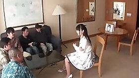 Godlike asian Nozomi Hatzuki getting moneyshot in mouth