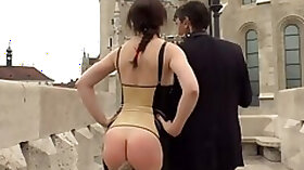 Double Anal, Public, Tina Kay, Plug, Outdoor Double Penetration, Busty Redhead Anal, Street