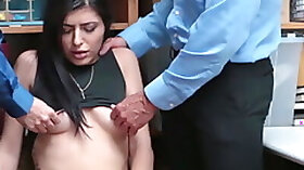 Latina Audrey Royal penetrated with two police cocks