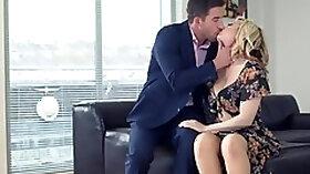 Aruba Jasmine swallows her mans white cock then bounces on it