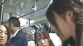 Cute schoolgirl molested by bus geek