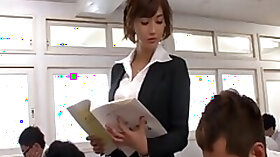 Delicious and nasty Japanese teacher is being banged by her students
