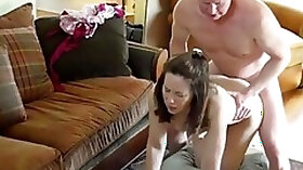 Mom daughter watched her fuck step dad