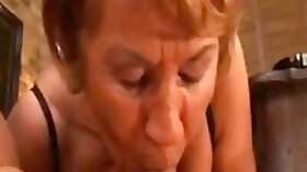 Lusty grandma of my wife gets shagged missionary style on the floor
