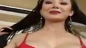 Asian mature is getting wet from massage