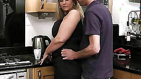 chubby boy masturbates in the kitchen