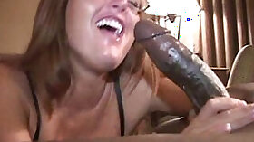 Blondie rides and sucks a black cock hard