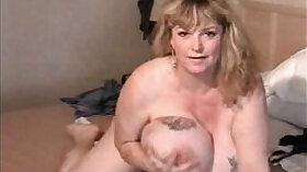 Chubby MILF Having Her Boy Girl Eat Pussy