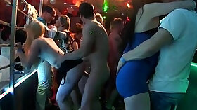 Chav lovers suck and fuck in the round table group afterparty