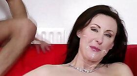 Allegra Luna jiggles her ass in hot pink thigh high stockings