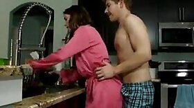 Bully lets his step mom suck his cock and get mouth filled