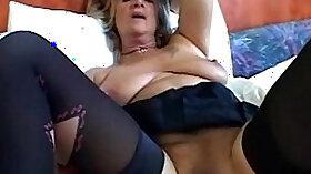 Big Tit Granny Masturbates With A Dildo