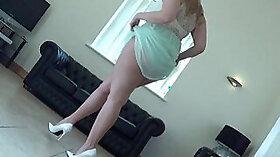 White sissy enjoys nips in heels