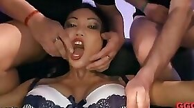 Busty asian babe cunt toyed