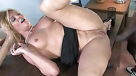 Blonde Mom Taylor takes Black Cock and gets Cum full